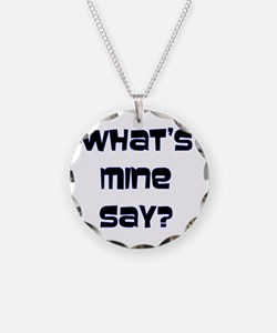 What's Mine Say? (SWEET) Necklace Circle Charm