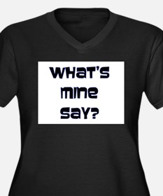 What's Mine Say? (SWEET) Women's Plus Size V-Neck