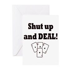 Shut up and Deal! Greeting Cards (Pk of 20)