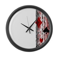 Suits & Stripes Large Wall Clock