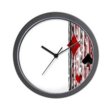 Suits & Stripes Wall Clock