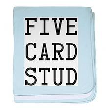 Five Card Stud Black baby blanket