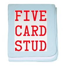 Five Card Stud Red baby blanket