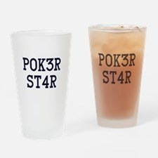 Poker Star Drinking Glass