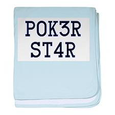 Poker Star baby blanket