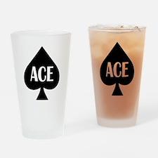 Ace Kicker Drinking Glass