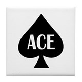 Ace of spades Tile Coasters