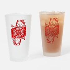 Red Queen Drinking Glass
