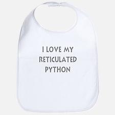 Luv My Reticulated Python (Wh Bib