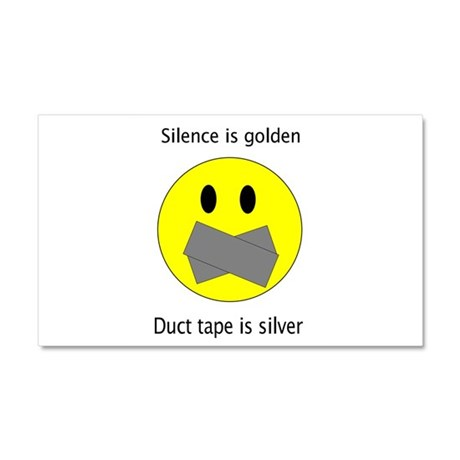 Silence is golden 2 Car Magnet 20 x 12
