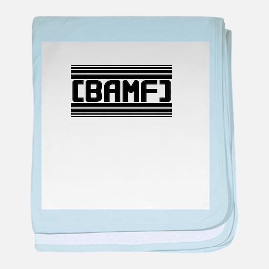 BAMF baby blanket