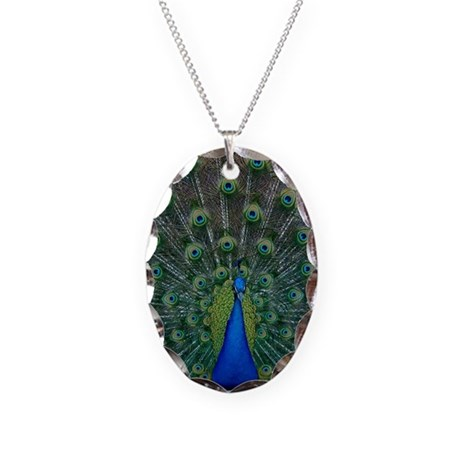 Peacock 6025 - Necklace Oval Charm