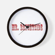 Mr. Brightside (Red) Wall Clock
