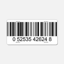 Barcode (large) Aluminum License Plate
