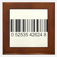 Barcode (large) Framed Tile