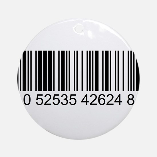 Barcode (large) Ornament (Round)