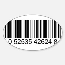 Barcode (large) Sticker (Oval)