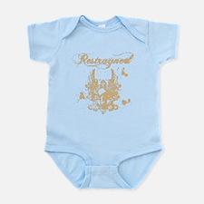 Restrayned Skull Wings in Tan Infant Bodysuit