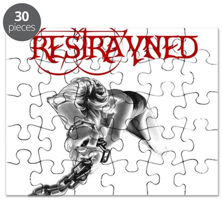 Restrayned Girl in Chains Puzzle