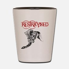 Restrayned Girl in Chains Shot Glass