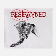 Restrayned Girl in Chains Throw Blanket