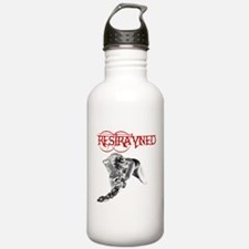 Restrayned Girl in Chains Water Bottle