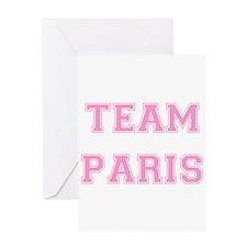 Team Paris Light Pink Greeting Card