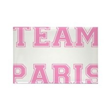Team Paris Light Pink Rectangle Magnet