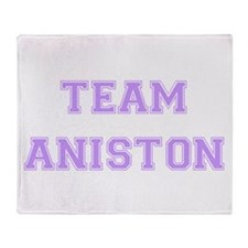 Team Aniston Lavender Throw Blanket