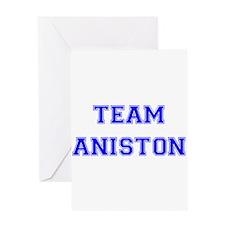 Team Aniston Blue Greeting Card