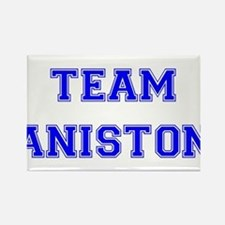 Team Aniston Blue Rectangle Magnet