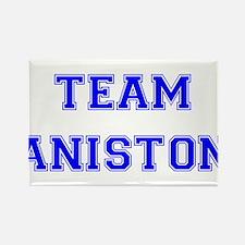 Team Aniston Blue Rectangle Magnet