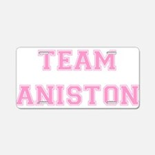 Team Aniston Pink Aluminum License Plate