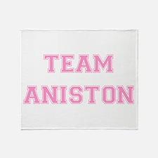 Team Aniston Pink Throw Blanket