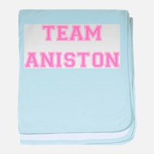 Team Aniston Pink baby blanket