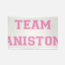 Team Aniston Pink Rectangle Magnet