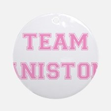 Team Aniston Pink Ornament (Round)