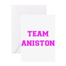 Team Aniston Hot Pink Greeting Card