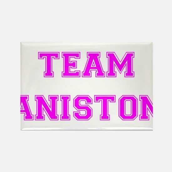 Team Aniston Hot Pink Rectangle Magnet