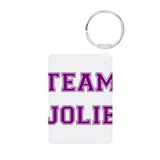 Team Jolie Purple Aluminum Photo Keychain