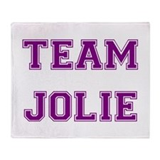 Team Jolie Purple Throw Blanket