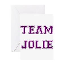 Team Jolie Purple Greeting Card