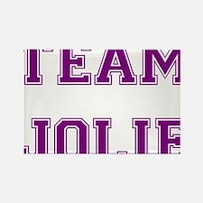 Team Jolie Purple Rectangle Magnet