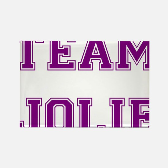 Team Jolie Purple Rectangle Magnet
