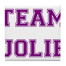 Team Jolie Purple Tile Coaster