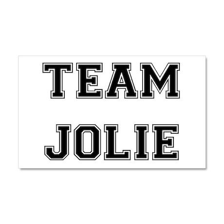 Team Jolie Black Car Magnet 20 x 12