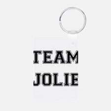 Team Jolie Black Keychains