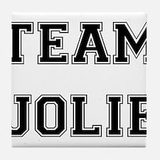 Team Jolie Black Tile Coaster