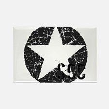 Star Shield Gray Rectangle Magnet