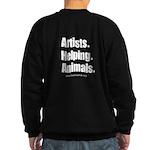 Hs Double Sided Artists. Helping Sweatshirt (dark)